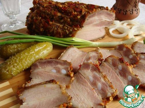 Грудинка солено-печеная рецепт с фото пошагово как приготовить #11