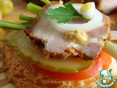 Грудинка солено-печеная рецепт с фото пошагово как приготовить #12