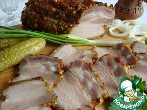 Грудинка солено-печеная рецепт с фото пошагово как приготовить на Новый Год