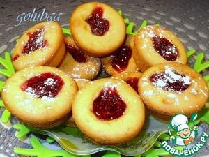 Кексы кефирные с малиновым джемом рецепт приготовления с фотографиями