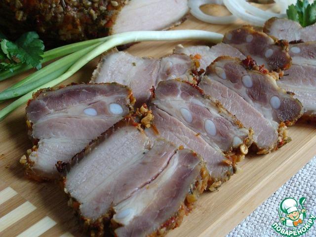 Грудинка солено-печеная рецепт с фото пошагово как приготовить #8