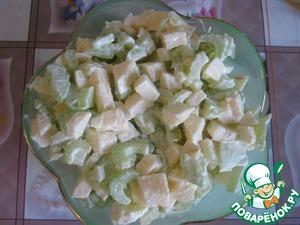 Готовим Салат с сельдереем и яблоком пошаговый рецепт приготовления с фотографиями