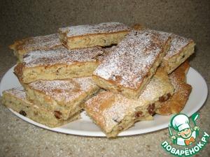 Готовим вкусный рецепт приготовления с фото Сухой пирог с орехами и изюмом
