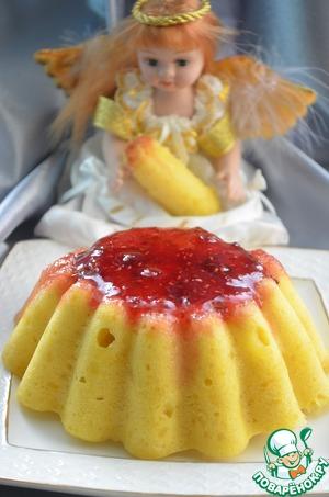 Пудинг с малиновым джемом домашний рецепт с фотографиями как готовить