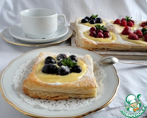 Рецепт слоеное тесто с ягодой