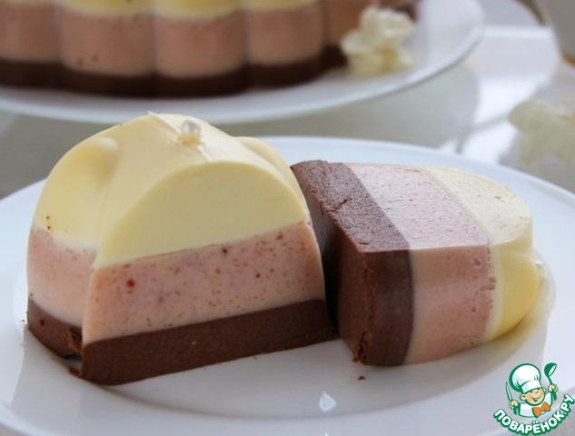 Птичье молоко с желе торт
