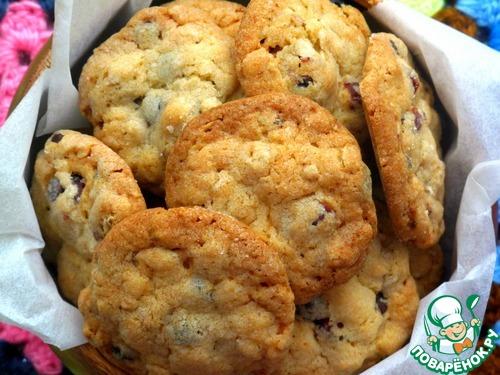 Овсяное печенье с клюквой и шоколадом – кулинарный рецепт