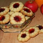 Печенье песочное с джемом