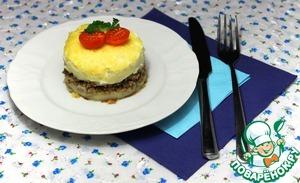 Рецепт Запеканка Пармантье из картофеля и фарша в мультиварке