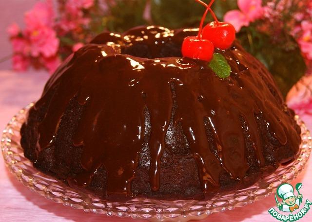 Шоколадный кекс с вишней Отелло