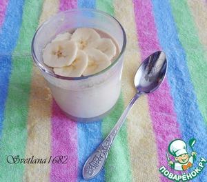 Рецепт: Банановый йогурт (домашний)