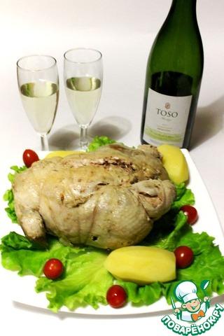 Как готовить рецепт приготовления с фото Куриный галантин в ароматном бульоне #11