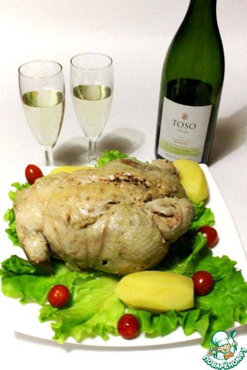 Как готовить рецепт приготовления с фото Куриный галантин в ароматном бульоне #12
