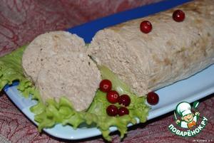 Рецепт Куриная колбаса в пароварке