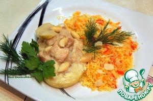 Кролик, тушеный с яблоками и миндалем простой рецепт приготовления с фото пошагово