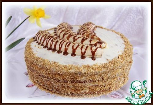 """Шоколадный торт с бананами """"Три банана"""""""
