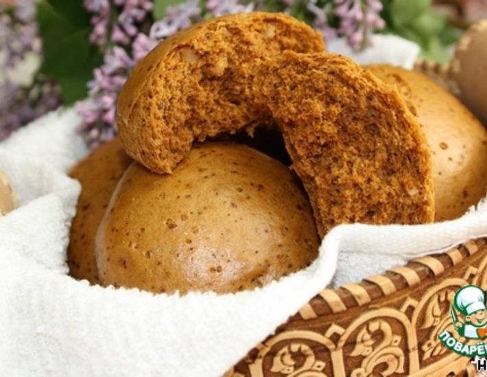Рецепт: Медовые пряники с орехами на пару