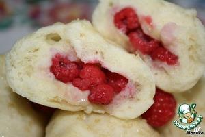 """Рецепт: Вареники """"Воздушные"""" на пару с ягодами"""