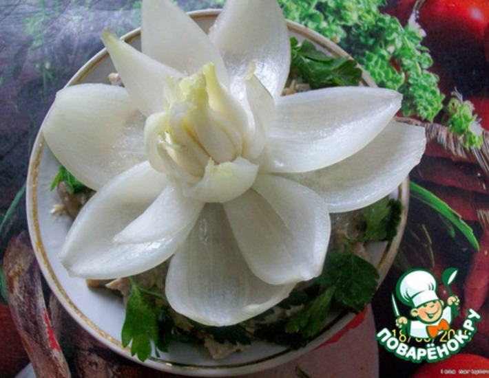 Цветы из лука пошаговое фото