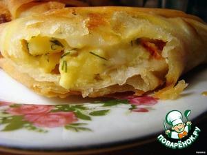 Рецепт: Лаваш с копчeным сыром
