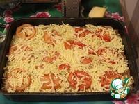 Картофельная запеканка с фаршем, помидорами и сыром ингредиенты