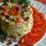 Нежный рыбный салат