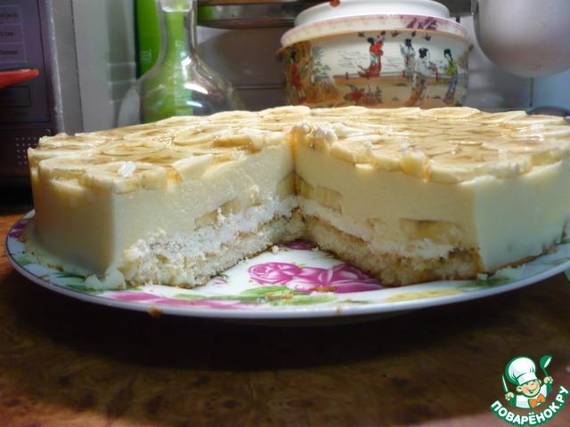 Банановый торт рецепт с фото пошагово