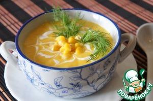 крем суп из консервированной кукурузы
