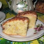 Банановый пирог со сметанным кремом