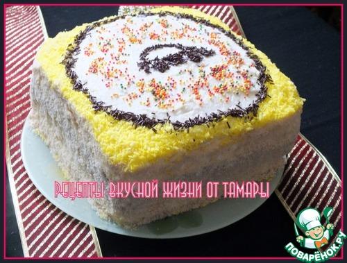 Мохнатый торт рецепт фото