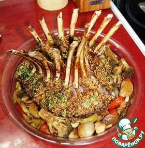 «Корона» из бараньей корейки