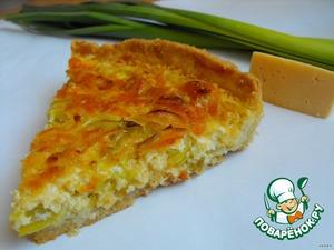 Рецепт Сочный песочный киш с луком-пореем и сыром