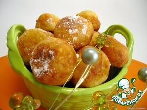 Рецепт Творожные пончики с курагой