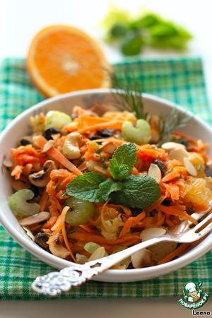 Рецепт Пикантный морковный салат с апельсином