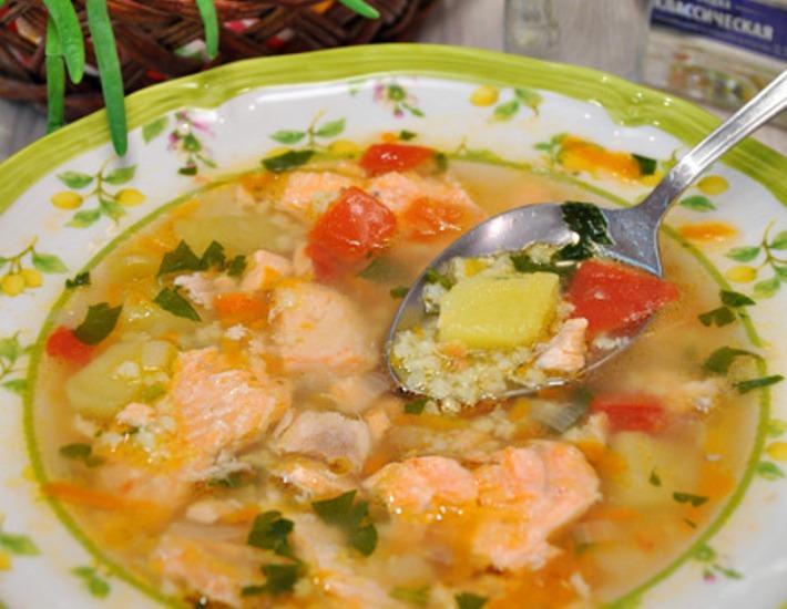 Суп с семги с пшеном рецепт с пошагово