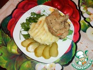 Тушёная свиная котлета на косточке простой рецепт с фотографиями как готовить