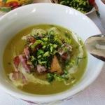 Лондонский суп из колотого зеленого гороха