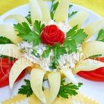 Салат Романтик в цветке из перца