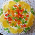 """Торт бисквитный """"Цветок апельсина"""""""