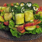 Салат с фаршированными цуккини