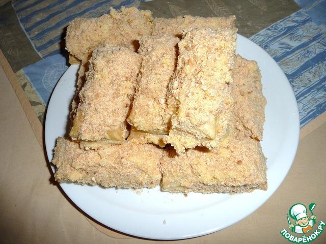 пирожные из слоёного теста со сгущёнкой