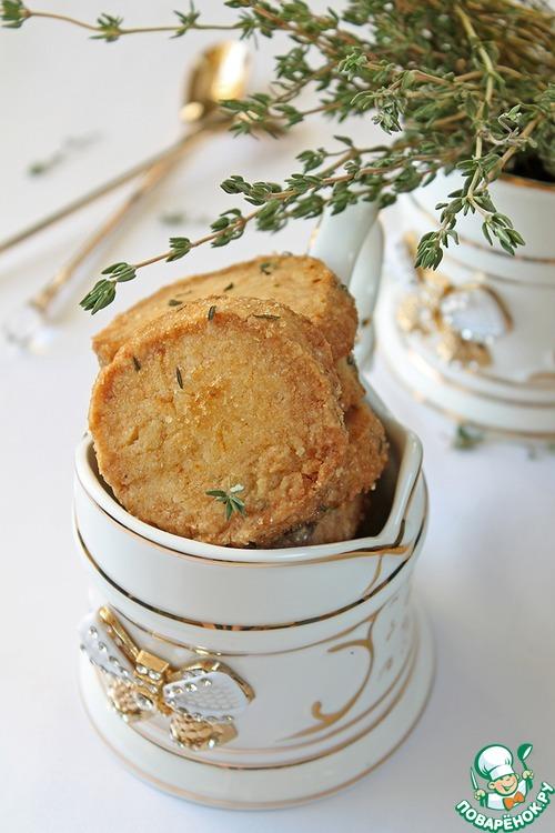 Пряное песочное печенье с белым шоколадом