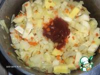 Овощное рагу с рыбными биточками ингредиенты