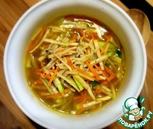 Рецепт Густой рисовый суп по-китайски