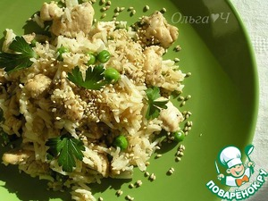 Готовим Рис с курицей по-азиатски пошаговый рецепт с фото