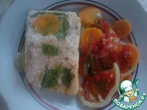 Рецепт Запеченный голец с овощами