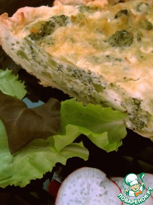 Рецепт Пирог с творогом и брокколи