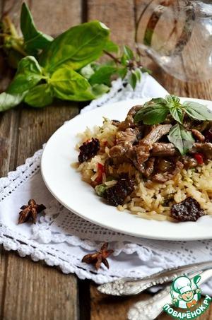 Рецепт Говядина с бадьяном и зеленым рисом