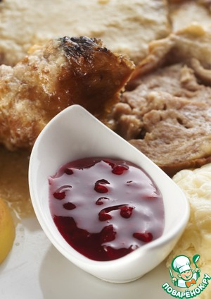 Рецепт Желе из красной смородины к мясу