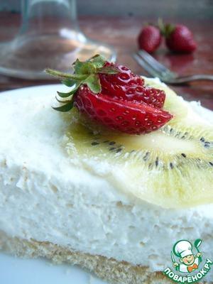 Рецепт Чизкейк с ягодами и кокосовой стружкой
